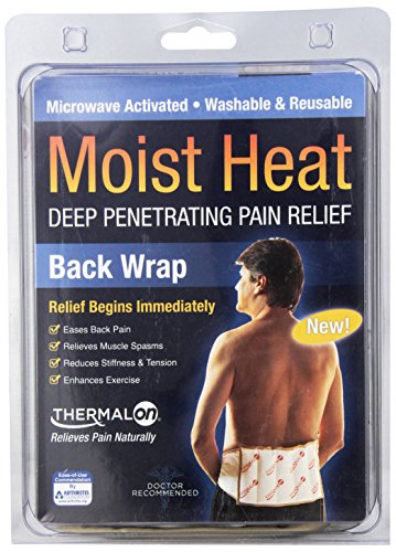 "Thermalon Microwave Activated Moist Heat Therapy Wrap For Back, Hip And Shoulders. 7"" X 12"" With Tie"