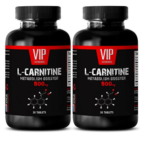 Carnitine Powder - Carnitine 500mg - Improves Muscle Build Potential (2 Bottles - 60 Tablets)