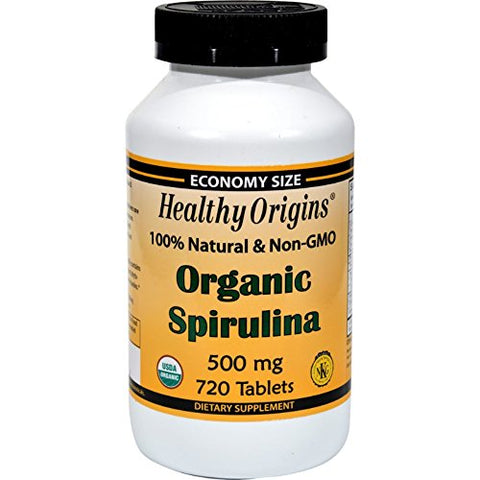Healthy Origins - Organic Non-GMO Spirulina 500 mg. - 720 Tablet(s)