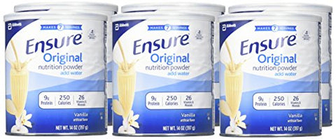 Ensure Original Nutrition Powder with 9 grams of protein, Meal Replacement, Vanilla, 14 oz, 6 count