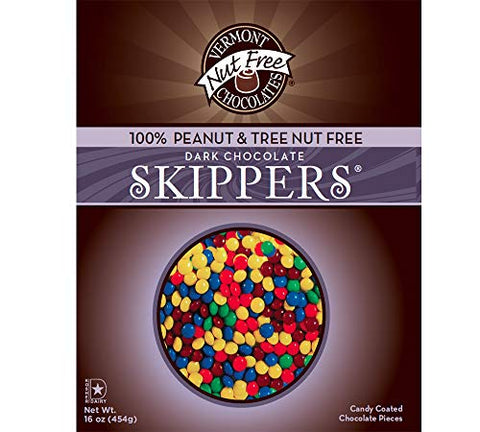 Vermont Nut Free Chocolates Skippers (Dark Chocolate) 16 oz, 2 Bags