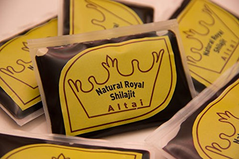 Natural Royal Shilajit resin, Altai, 30 grams + free unique white Royal Shilajit sample, 5 grams (Limited Offer)