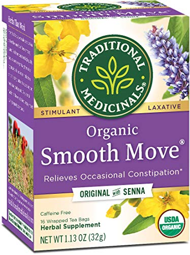 Traditional Medicinals Organic Smooth Move Laxative Tea, 16 Tea Bags (Pack of 6)