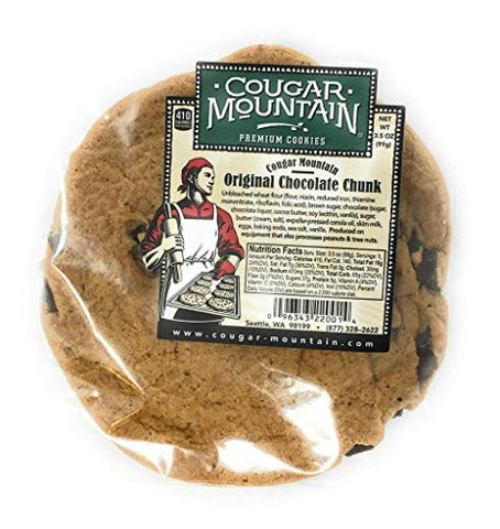 Premium Chocolate Chunk Cookies- Cougar Mountain Baking Company 24 count- 3.5 oz Cookies