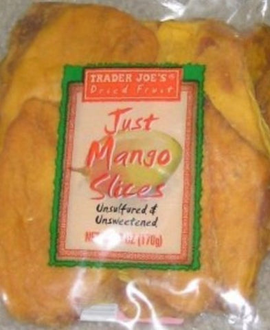 Trader Joe's Dried Fruit Just Mango Slices 6 Ounces (Pack of 8)