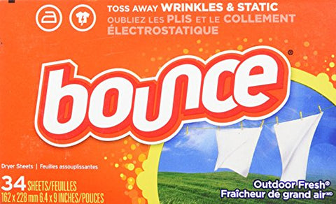 Bounce Fabric Softener Dryer Sheets, Outdoor Fresh Scent, 34 Count