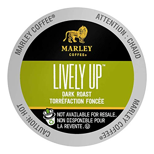 Marley Coffee, Lively Up!, Single Serve RealCup Organic Espresso Roast, for Keurig K-Cup Brewers, 96 Count