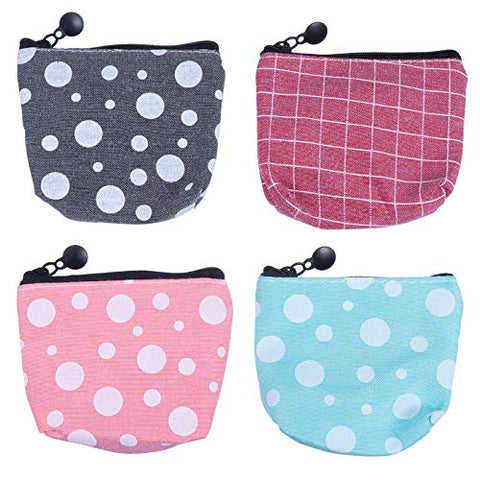 EXCEART 4pcs Sanitary Napkin Pad Bag Zipper Sanitary Pad Storage Organizer Purse Holder Sanitary Towel Container