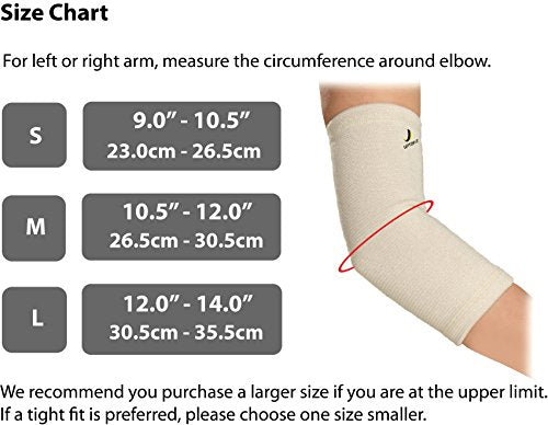 UPTOFIT Elbow Compression Sleeve for Bursitis Copper Elbow Brace for Elbow Pain from Tennis Golf Weightlifting Basketball Lacrosse Elbow Men and Women (L)