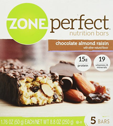 Zone Perfect Chocolate Almond Raisin Nutrition Bars 5 Count