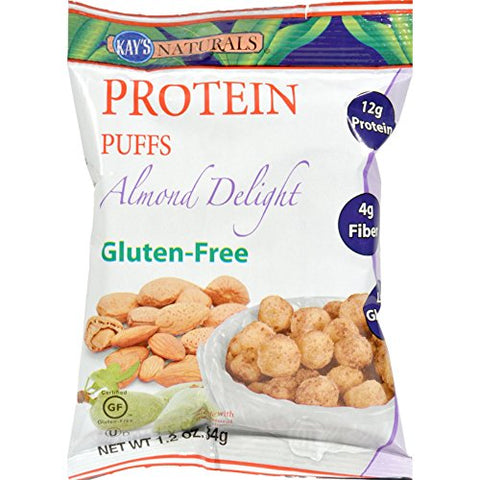 Kay's Naturals Protein Puffs - Almond Delight - Case of 6-1.2 oz