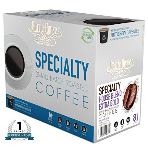 Barrie House Extra Bold Single Serve Coffee Pods, 24 Pack | Compatible With Keurig K Cup Brewers | S