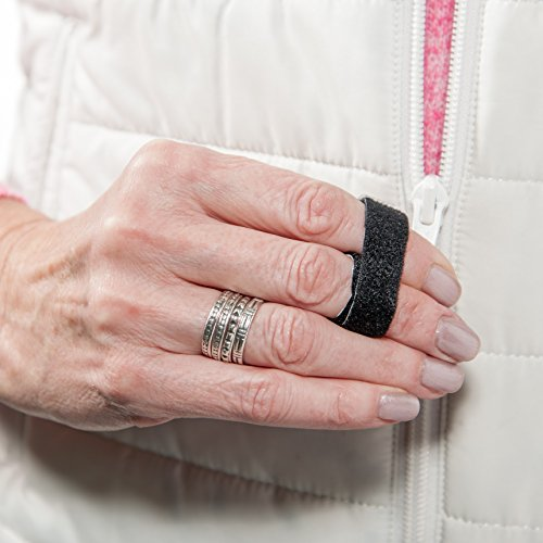 "3-Point Products 3pp Buddy Loops for Jammed and Broken Fingers 1/2"", Black (Package of 25)"