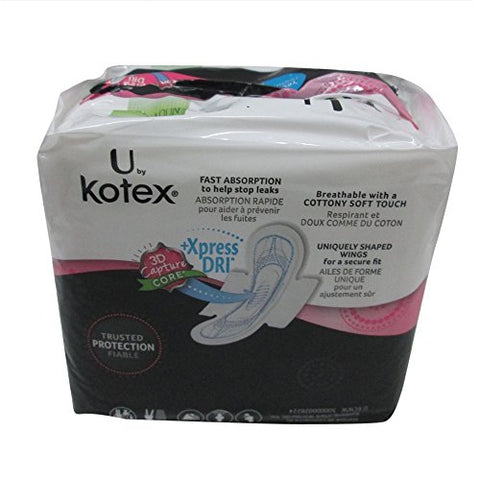 Kotex U Sect Ult Thn Reg Size 18ct U By Kotex Security Ultra Thin Regular W/Wings 18ct