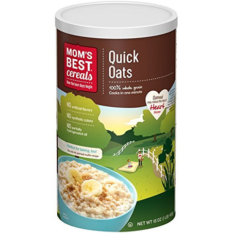 Post Mom's Best Rolled Quick Oats Hot Cereal, 16 Ounce (Pack of 12)