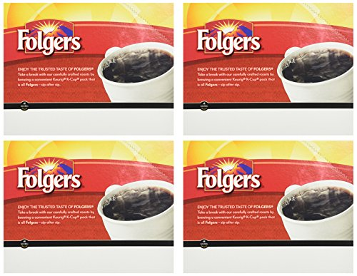 Folgers Gourmet Selections Classic Roast Coffee(Meduim Roast) Keurig K-Cups, 24 Count (Pack of 4)