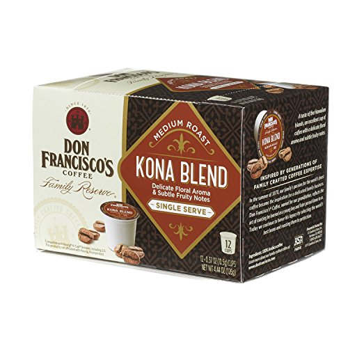 Don Francisco's Kona Blend, Premium 100% Arabica Coffee,, Medium-Roast, Single-Serve Pods for Keurig, 12-Count, Family Reserve
