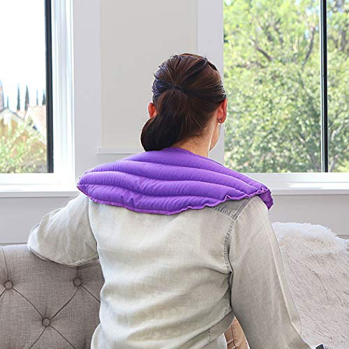 My Heating Pad Microwavable Heating Pad for Neck and Shoulders Pain Relief | Natural and Reusable Hot Cold Pack | Heated Neck Wrap for Stress and Tension Relief Therapy | Shoulder Heating Pad (Purple)