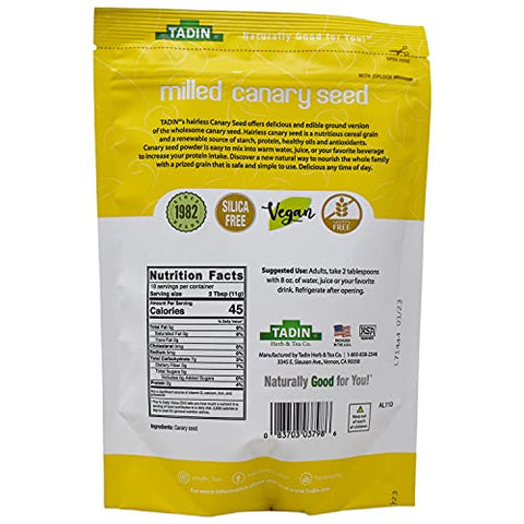Tadin Ground Canary Seed Dietary Supplement 7 Ounces