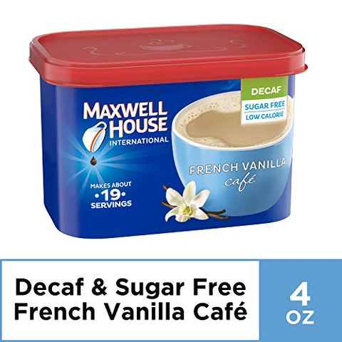 Maxwell House International Cafe French Vanilla Coffee (4oz Jars, Pack of 8)