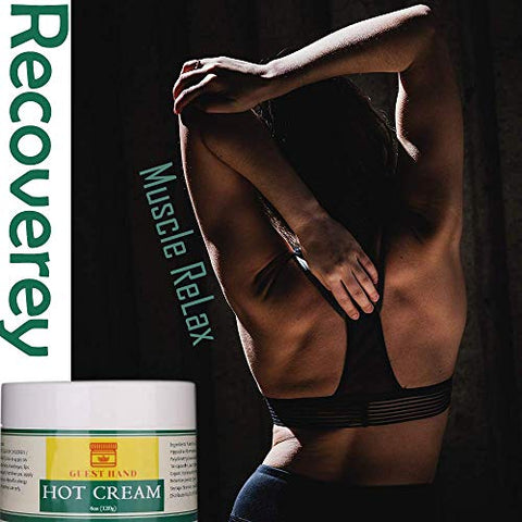 Hot Cream Recovery Treatment - Men and Women Muscle Relax Pain Relief Massage Cream for Daily Working Pre Post Sporting/Workout - 4oz