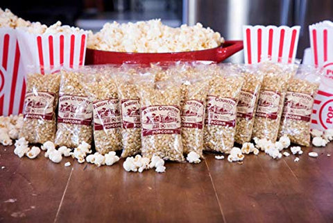 Amish Country Popcorn | 24 (4 Oz Bags) Baby White Popcorn | Old Fashioned With Recipe Guide