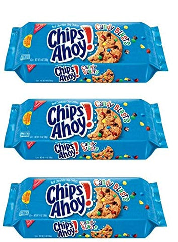 Nabisco Chips Ahoy! Candy Blasts Chocolate Chip Cookies, 12.4 oz (Pack of 3)