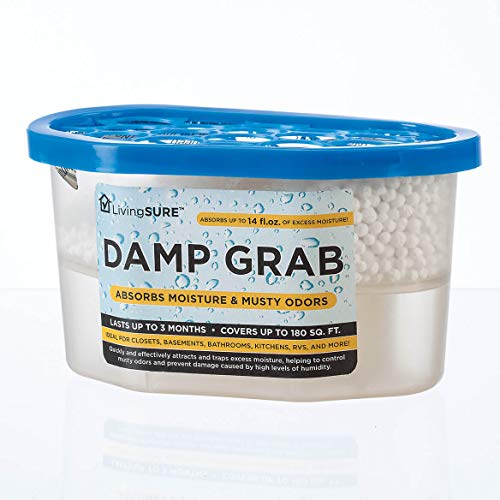 Fox Valley Traders Damp Grab Closet Dehumidifier, Moisture Control, Fragrance Free, White, 14 oz.