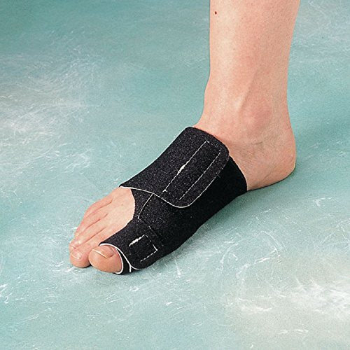 Rolyan Deluxe Bunion Splint for Left Foot, Fixed Position Brace for Big Toe & Bunion Relief, Slip Resistant Splint for Bunionectomy Rehabilitation & Recovery, Soft Foam Toe Alignment Support Brace