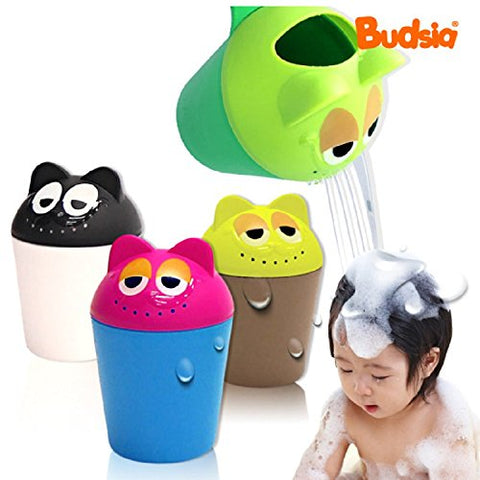 Budsia Baby Bath Waterfall Rinser Kids Shampoo Rinse Cup Cat Bath Shower Washing Head (Green)