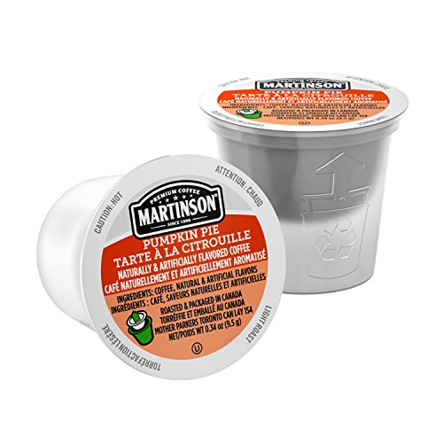 Martinson Single Serve Coffee Capsules, Pumpkin Spice, Compatible With Keurig K Cup Brewers, 24 Coun