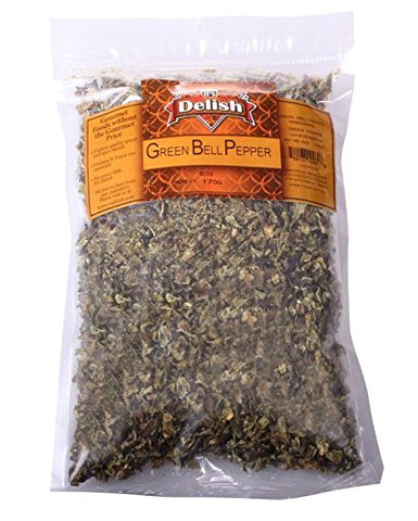 Dried Green Bell Peppers by It's Delish, 2 lbs
