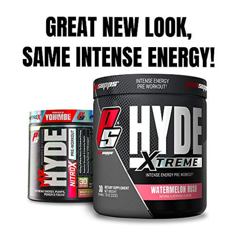 ProSupps Mr. Hyde Xtreme (Former NitroX) Pre-Workout Powder Energy Drink - Intense Sustained Energy, Pumps & Focus with Beta Alanine, Creatine & Nitrosigine, (30 Servings, Watermelon Rush)