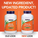 Image of Now Supplements, Cherry Concentrate (Prunus Serotina)750 Mg, 10:1 Fruit Concentrate, 180 Veg Capsule