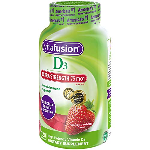 Vitafusion Extra Strength Vitamin D3 Gummy Vitamins, 120 ct