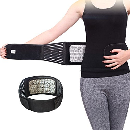 Maibu Removable Self Heating Magnetic Therapy Support Brace Adjustable Pain Relief Back Waist Suppor