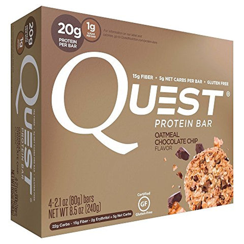 Quest Nutrition Protein Bar, Oatmeal Chocolate Chip, 4 Count