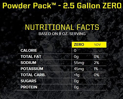 Sqwincher Zero Sugar Free Powder Concentrate Electrolyte Replacement Beverage Mix, 2.5 gal, Lemon Lime 016800-LL (Case of 32)