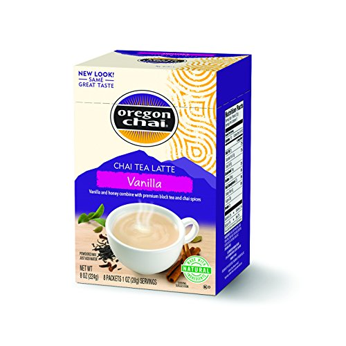 Oregon Chai Original Chai Tea Latte Powdered Mix, Vanilla, 8 Count Envelopes per Box, 1.1 oz each (31g) (Pack of 6)