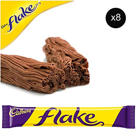 Cadbury Flake Bars | Total 8 bars of British Chocolate Candy - Cadbury Flake