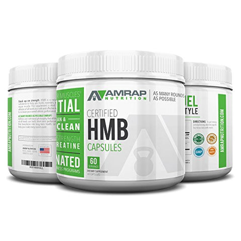 Certified HMB Capsules - Premium 1000 mg HMB Capsules Builds, Maintains & Repairs Muscle. Pure HMB Supplement is More Effective Than Creatine Powder for Increasing Strength, Stamina, Speed & Recovery