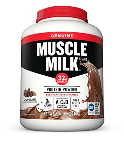 Muscle Milk Genuine Protein Powder, Chocolate, 32g Protein, 4.94 Pound