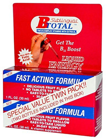 SUBLINGUAL PRODUCTS B Total Energy Liquid, 2 OZ