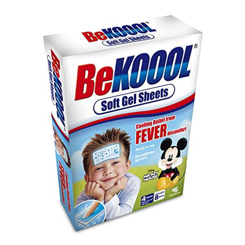 Be Koool Gel Sheets For Kids Fever 4 Each by BeKoool