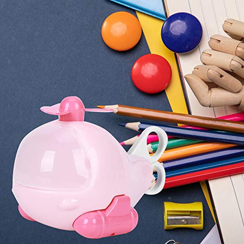 Stationery Toy, Cute and Personality Early Education Toy, Easy to Use Complete Functions Bathroom for Kids Home Baby(Pink)