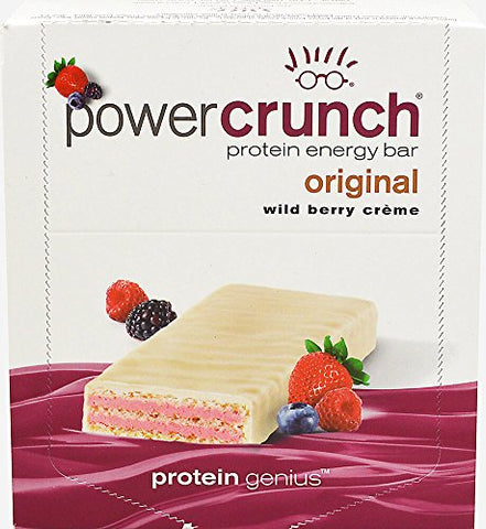 Bionutritional Research Group Power Crunch Wildberry-12 Bars