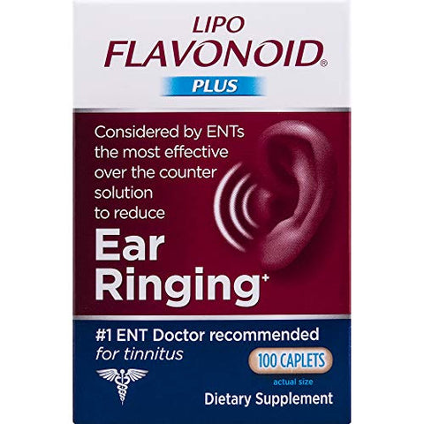 Lipo-Flavonoid Plus Ear Health Supplement | 500 Caplets | #1 ENT Doctor Recommended for Ear Ringing | Most Effective Over the Counter Tinnitus Treatment