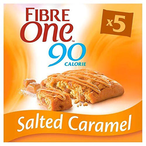 Fibre One 90 Calorie Salted Caramel Bars - 5 x 24g