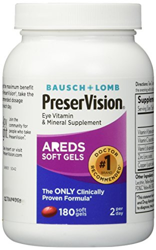 Bausch and Lomb PreserVision AREDS Formula Eye Vitamins - 180 Softgels