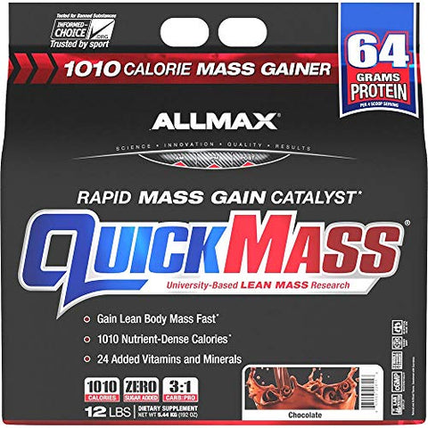 ALLMAX QuickMass - Weight Gainer & Rapid Mass Gain Catalyst - 12 Pound